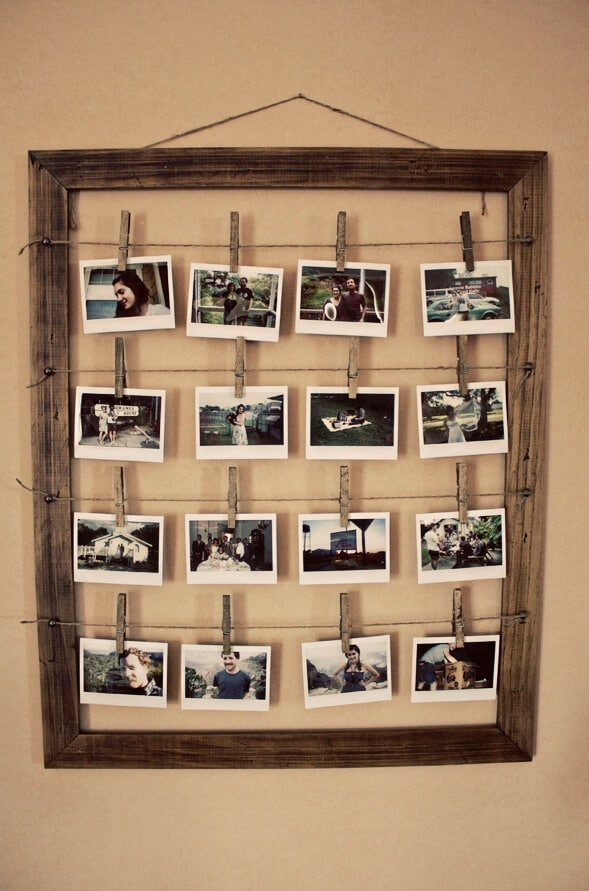 old picture frame ideas