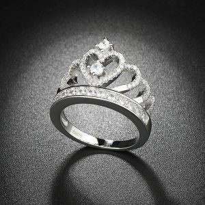 2018 Princess Crown Ring (Silver/Rose Gold)