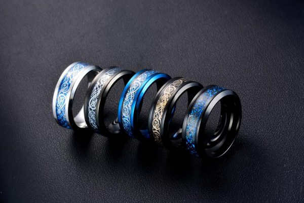 Viking Dragon Steel Ring (5 Colors)
