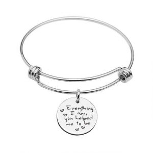 """Everything I Am, You Helped Me to Be"" Bangle"