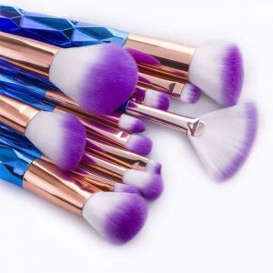 Unicorn Makeup Brushes (12 Piece Set) - Cherry & Oak