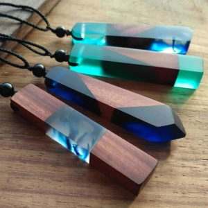 Epoque™ - Handmade Resin Necklace - Cherry & Oak