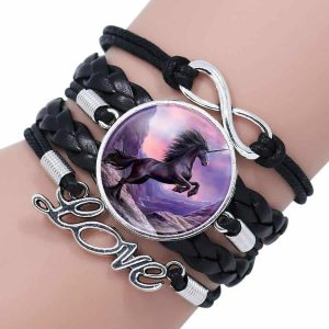 Unicorn Love Bracelet - Cherry & Oak